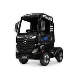 Электромобиль Mercedes-Benz Actros (HL358) 4WD черный глянец (колеса резина, кресло кожа, пульт, музыка)